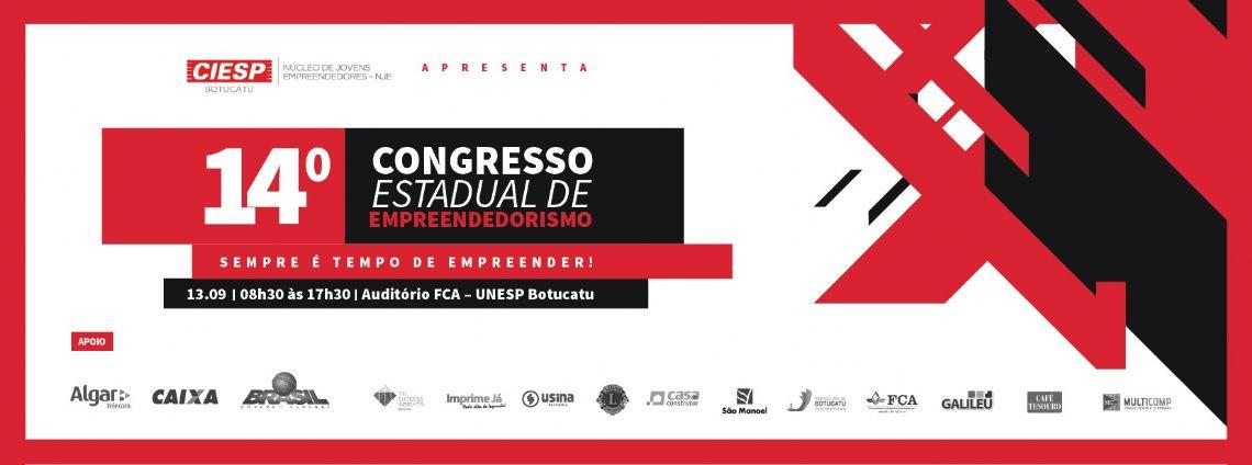 14º CONGRESSO ESTADUAL DE EMPREENDEDORISMO NJE - CIESP BOTUCATU
